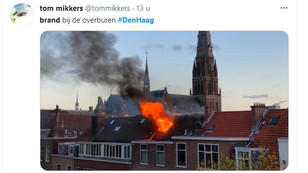 Den Haag – Brand Willemstraat: slaapkamer uitgebrand