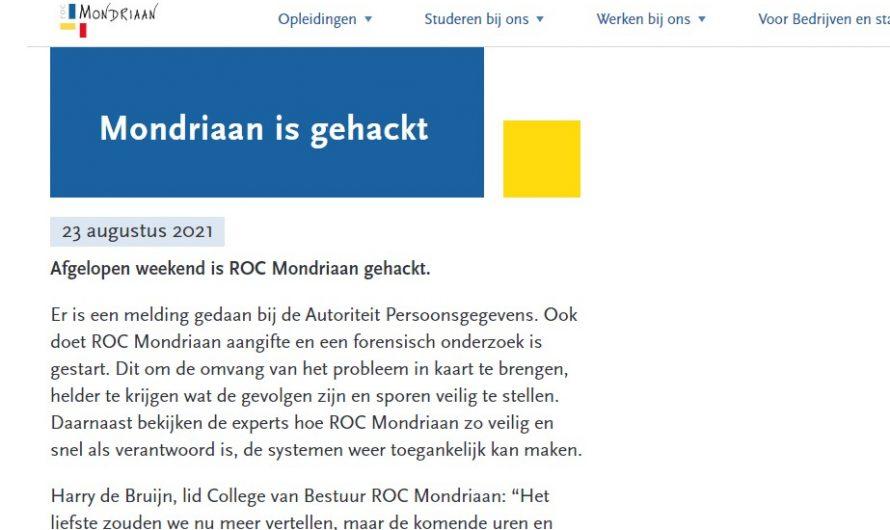 Den Haag – ROC Mondriaan gehackt